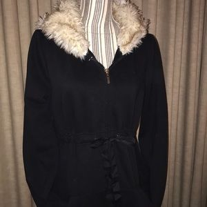 Victoria's Secret Rare Full Zip Hoodie w/ Faux Fur